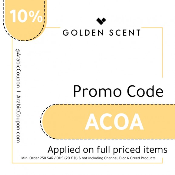 10% GoldenScent Coupon / PromoCode
