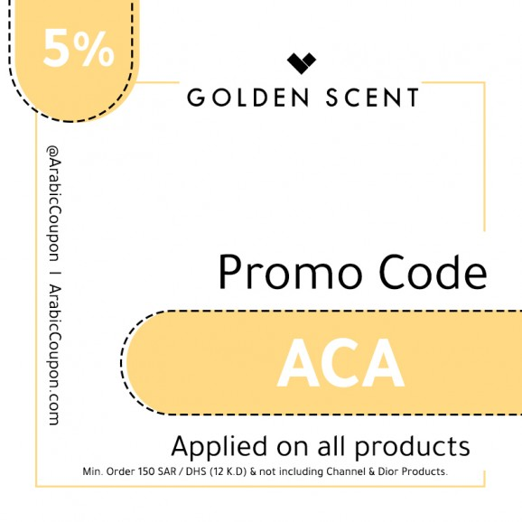 Promo Code GoldenScent - 5% Coupon - August, 2019